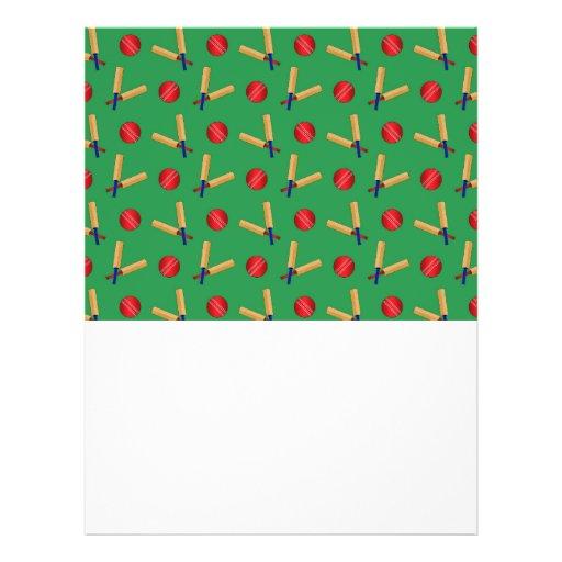 green cricket pattern full color flyer