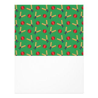 green cricket pattern full color flyer