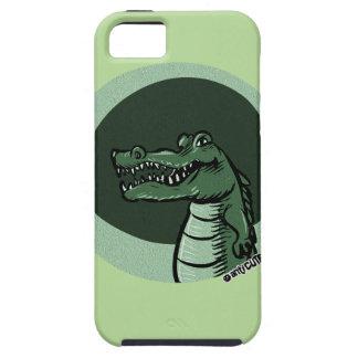 green crocodile funny cartoon iPhone 5 cases