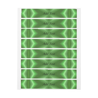Green cross abstract pattern wraparound address label