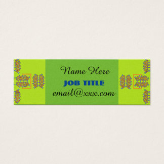 green cross pattern business card