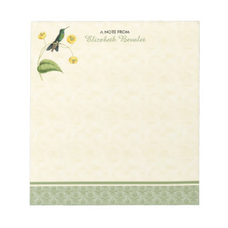 Green Crowned Brilliant Hummingbird Notepad