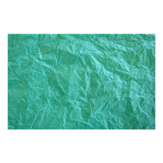 Green Crumpled Paper Stationery Paper