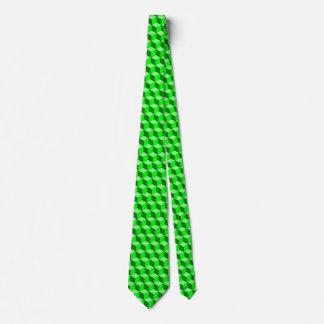 Green cube tie