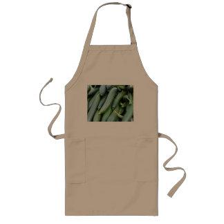 Green cucumbers long apron