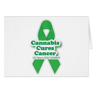 Green Cures Cancer Awareness Greeting Card