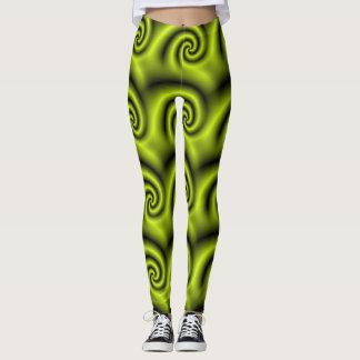 green curl leggings