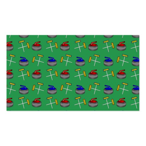 green curling pattern business cards