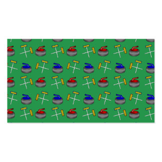 green curling pattern pack of standard business cards
