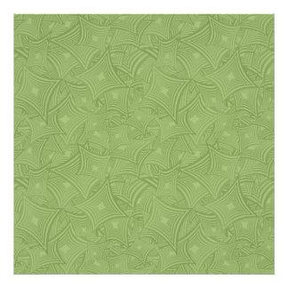 Green curved shape pattern photo art