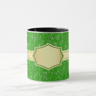 green custom name/text coffee mug