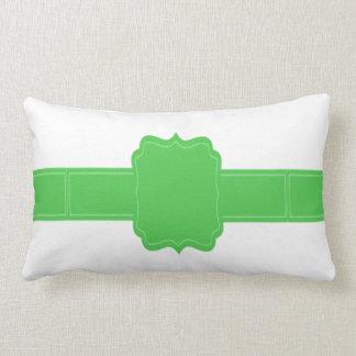 green customizable name/text/color lumbar pillow