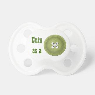 """Green """"Cute as a Button"""" Dummy"""
