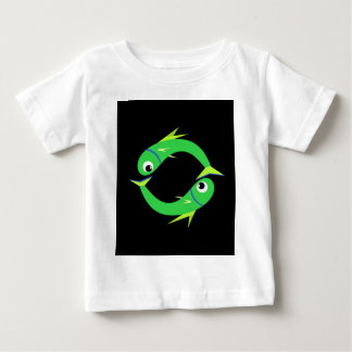 Green cute fishes baby T-Shirt