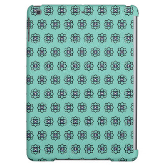 Green cyan flowers pattern