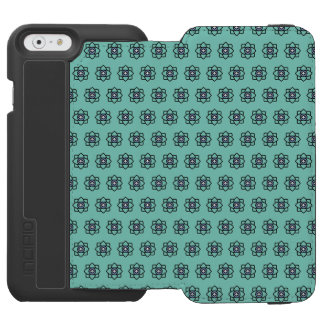 Green cyan flowers pattern incipio watson™ iPhone 6 wallet case