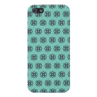 Green cyan flowers pattern iPhone 5 case