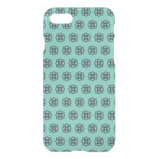 Green cyan flowers pattern iPhone 8/7 case