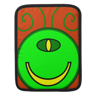 Green Cyclops Monster Face iPad Sleeve