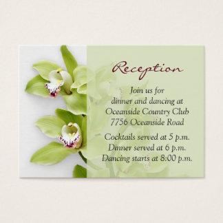 Green Cymbidium Orchid Wedding Reception Insert