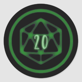 Green D20 Crit stickers
