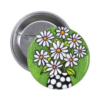 Green Daisy Button