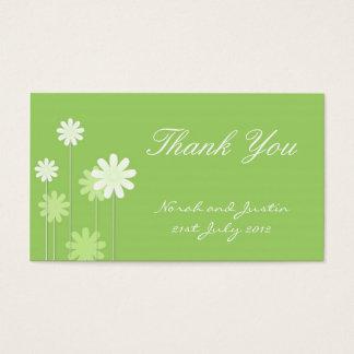 Green Daisy Wedding Thank You Card