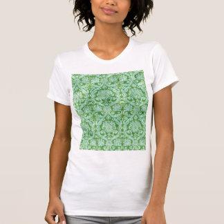 Green Damask floral Wallpaper Pattern Tee Shirt