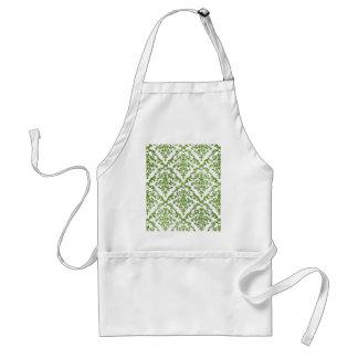 Green Damask Pattern Gifts Standard Apron