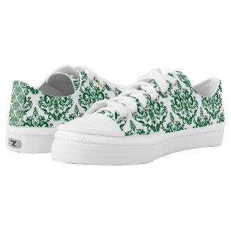 Green Damask Printed Shoes