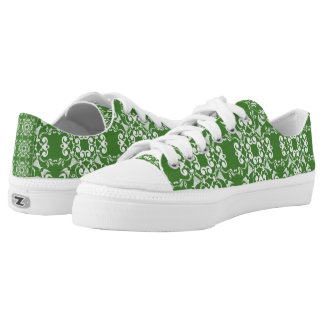 Green Damask St. Patricks Day Shoes Printed Shoes