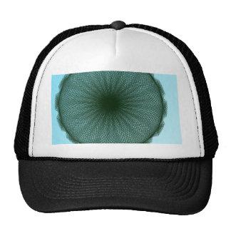 green dark lime abstract art cap