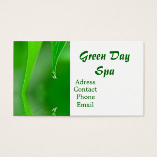 Green Day Spa Business Card