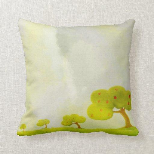 green decorative apple tree American MoJo Pillows