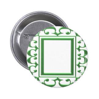 GREEN Decorative Border : Think multi uses 6 Cm Round Badge