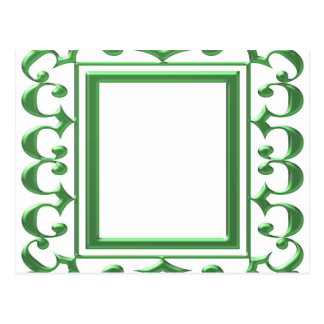 GREEN Decorative Border : Think multi uses Post Card