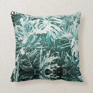 Green Delicious Monster Plant Leaves Cushion