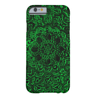 Green Demon Lotus Decorative Mandala iPhone Barely There iPhone 6 Case