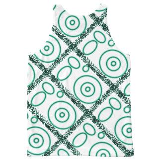 Green design on vest