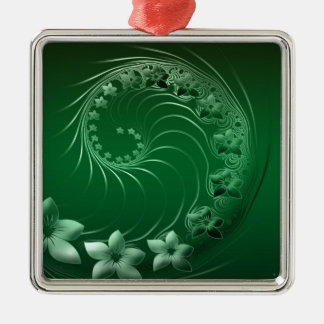 Green Design Party Destiny Celebration Silver-Colored Square Decoration