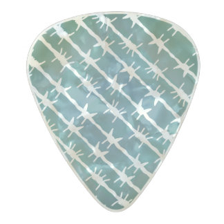 Green Diamond Barbed Wire Barb Fencing Pearl Celluloid Guitar Pick