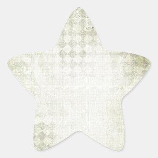 gREEN Diamond Grunge Star Sticker