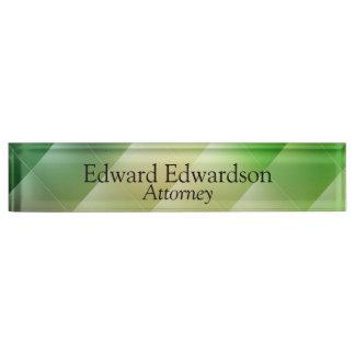 Green Diamond Name Plate