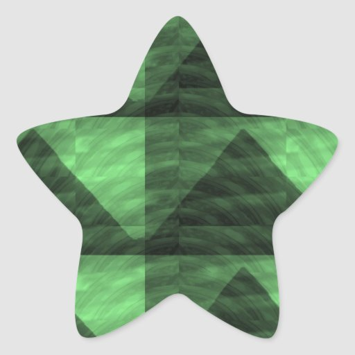 GREEN Diamond PYRAMID cut Gifts  LOWPRICE STORE Star Stickers