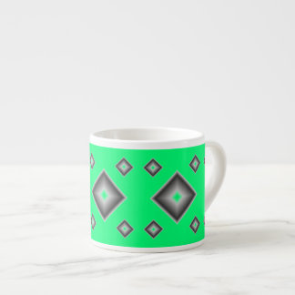 Green Diamonds Espresso Mug by Janz