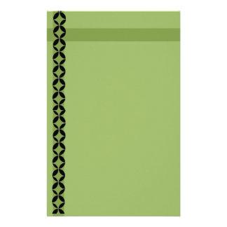 Green Diamonds Personalized Stationery