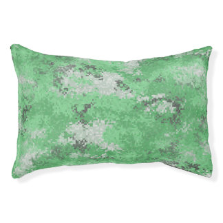 Green Digi Camo Pet Bed
