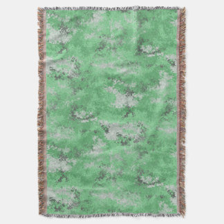 Green Digi Camo Throw Blanket
