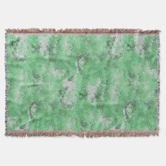 Green Digi Camo Throw Blanket