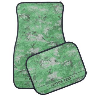 Green Digi Camo w/ Custom Text Car Mat